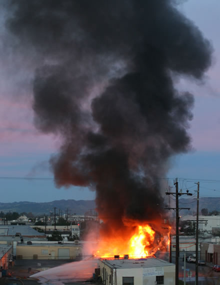 cache of dynamite consumed by controlled fire